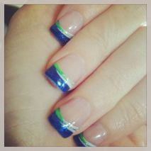 Seahawks nails design 66