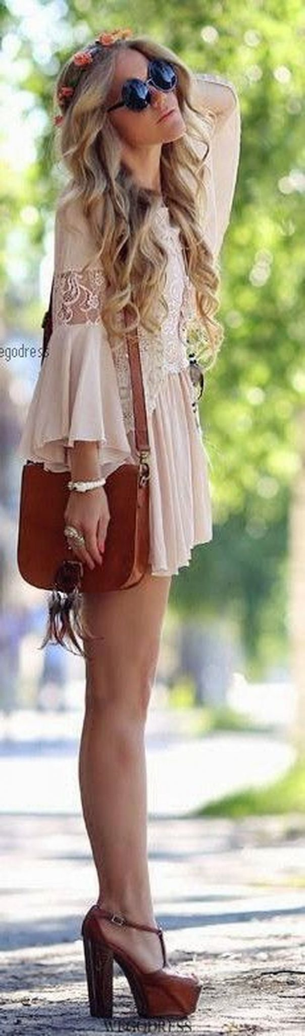 Stylish bohemian boho chic outfits style ideas 105