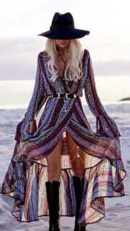 Stylish bohemian boho chic outfits style ideas 12