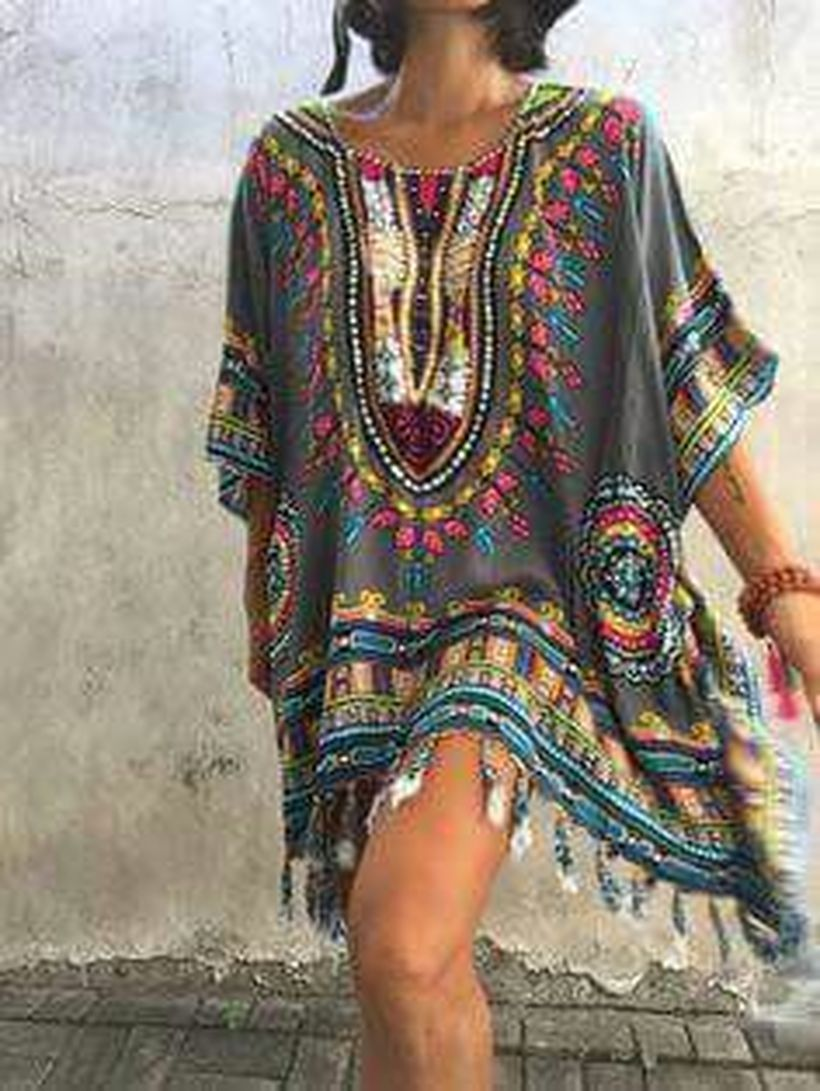 Stylish bohemian boho chic outfits style ideas 34