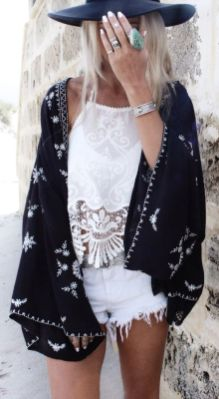 Stylish bohemian boho chic outfits style ideas 54