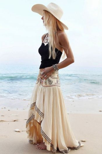 Stylish bohemian boho chic outfits style ideas 86