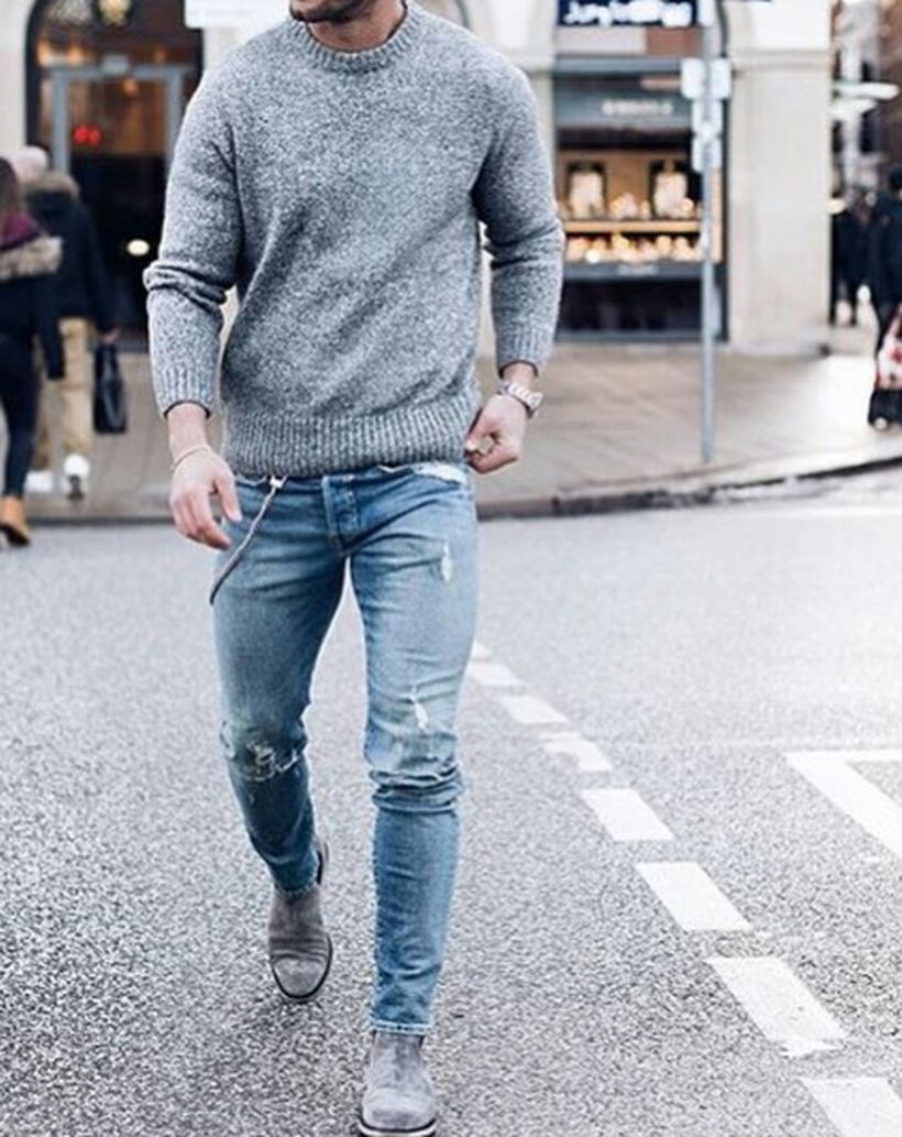 Stylish men's jeans outfits ideas in 2017 58