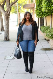 Stylish plus size outfits for winter 2017 111