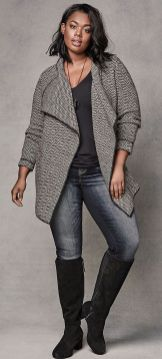 Stylish plus size outfits for winter 2017 17
