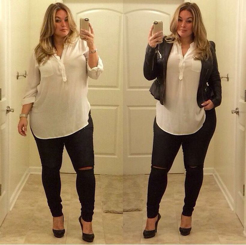 Stylish plus size outfits for winter 2017 86