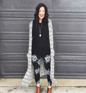 Tips how to wear cardigans and leggings in this fall 100