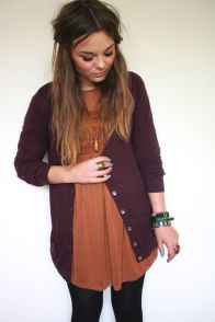 Tips how to wear cardigans and leggings in this fall 12