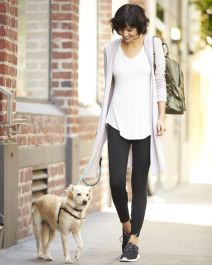 Tips how to wear cardigans and leggings in this fall 3