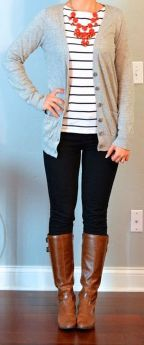 Tips how to wear cardigans and leggings in this fall 42