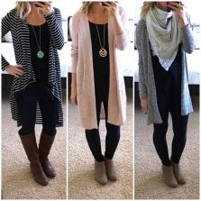 Tips how to wear cardigans and leggings in this fall 70