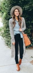 Tips how to wear cardigans and leggings in this fall 90