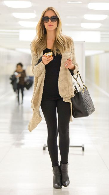 Tips how to wear cardigans and leggings in this fall 92