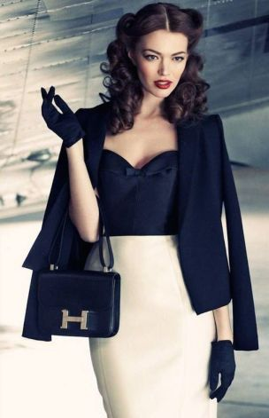 Vintage chic fashion outfits ideas 5