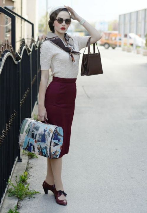 Vintage chic fashion outfits ideas 86
