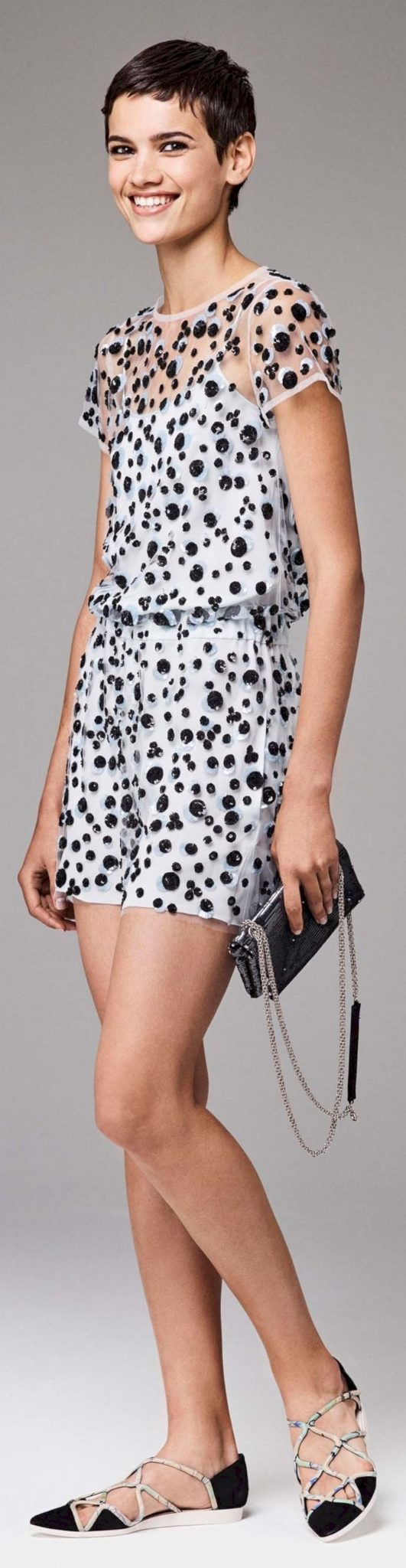 Polkadot short dress 60
