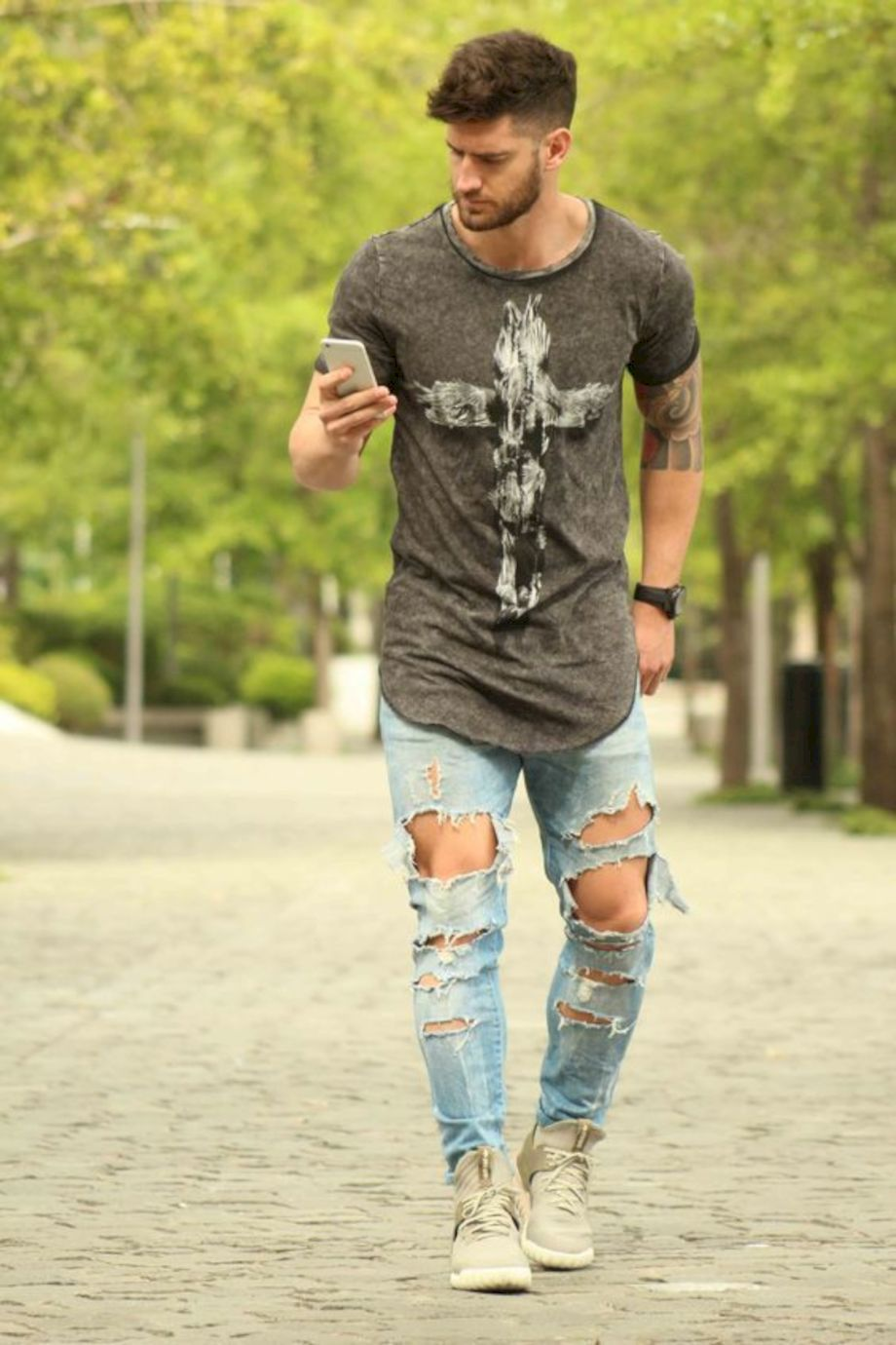 Ripped jeans for men 25
