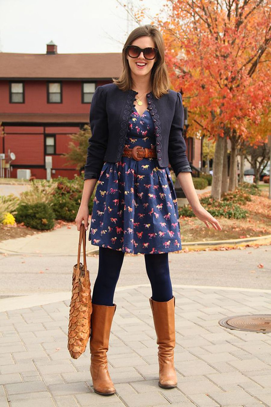 Inspiring skirt and boots combinations for fall and winter outfits 51