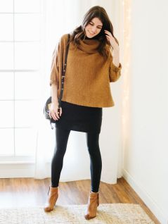 Inspiring skirt and boots combinations for fall and winter outfits 56