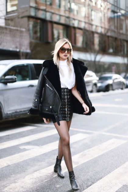 Inspiring skirt and boots combinations for fall and winter outfits 65