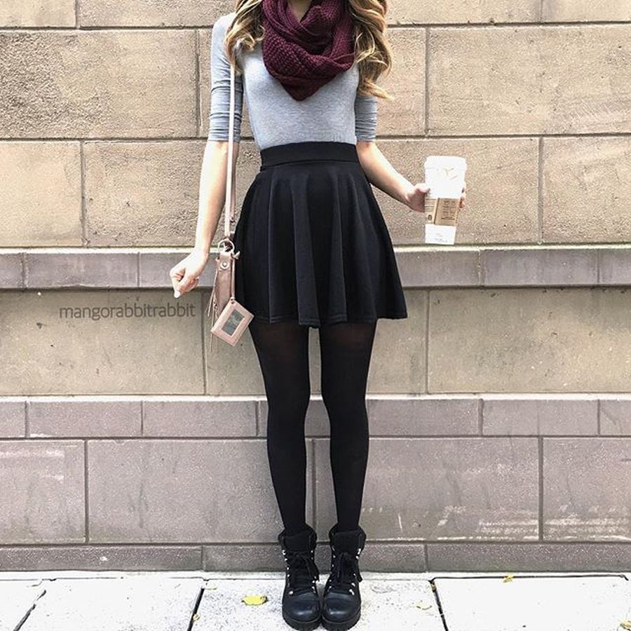 Skirt trends ideas for winter outfits this year 18
