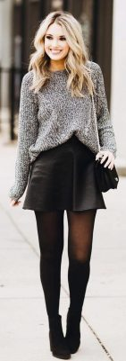 Skirt trends ideas for winter outfits this year 21