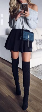 Skirt trends ideas for winter outfits this year 38