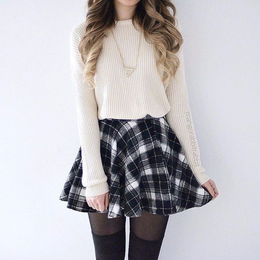 Skirt trends ideas for winter outfits this year 54
