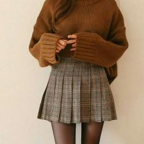 Skirt trends ideas for winter outfits this year 57