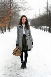 Skirt trends ideas for winter outfits this year 9