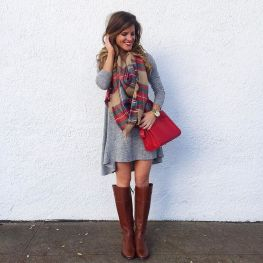 Fashionable scarves for winter outfits 119