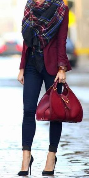 Fashionable scarves for winter outfits 122