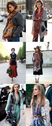 Fashionable scarves for winter outfits 24