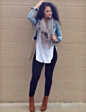 Fashionable scarves for winter outfits 46