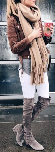 Fashionable scarves for winter outfits 61