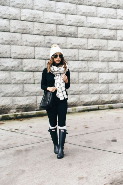 Fashionable scarves for winter outfits 86