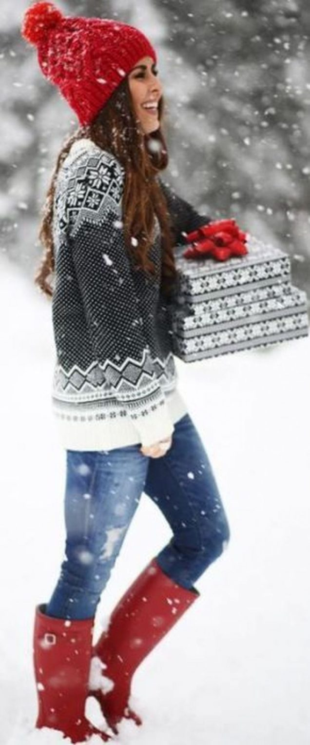 Fashionable women snow outfits for this winter 30