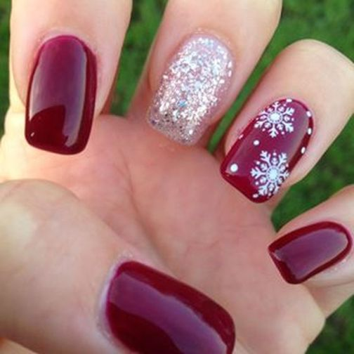 Gorgeous christmas nails ideas 100