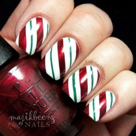 Gorgeous christmas nails ideas 107