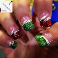 Gorgeous christmas nails ideas 15