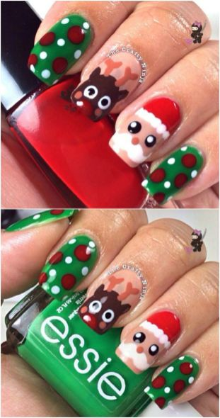 Gorgeous christmas nails ideas 19