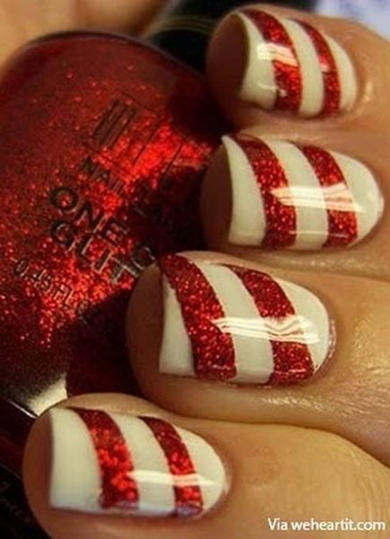 Gorgeous christmas nails ideas 23