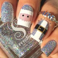 Gorgeous christmas nails ideas 51