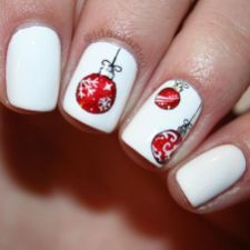 Gorgeous christmas nails ideas 65