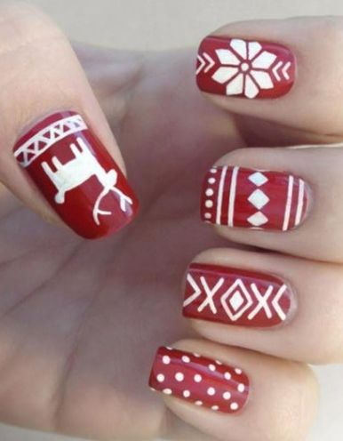 Gorgeous christmas nails ideas 80