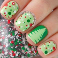 Gorgeous christmas nails ideas 89