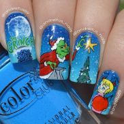 Gorgeous christmas nails ideas 95