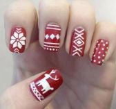 Gorgeous christmas nails ideas 97