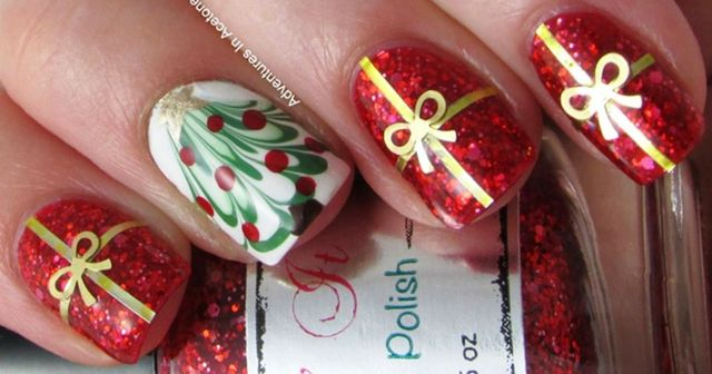 Gorgeous christmas nails ideas