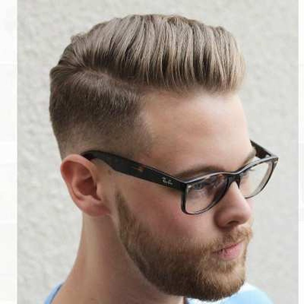 Men classy modern pompadour hairstyle 14 - Fashion Best